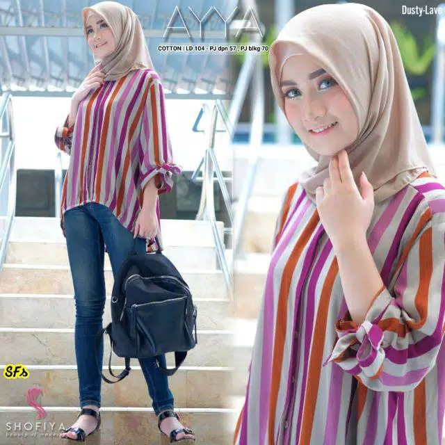 Atasan blouse ayya dusty lavender