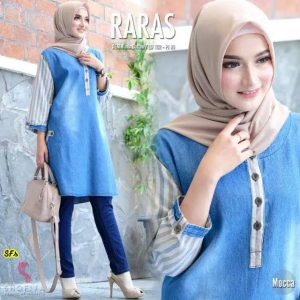 Tunik denim raras moka