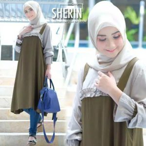 Tunik dress sherin cream