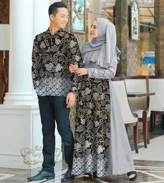 Couple batik alazka abu