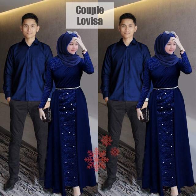 Couple pesta lovisa lakshana navy
