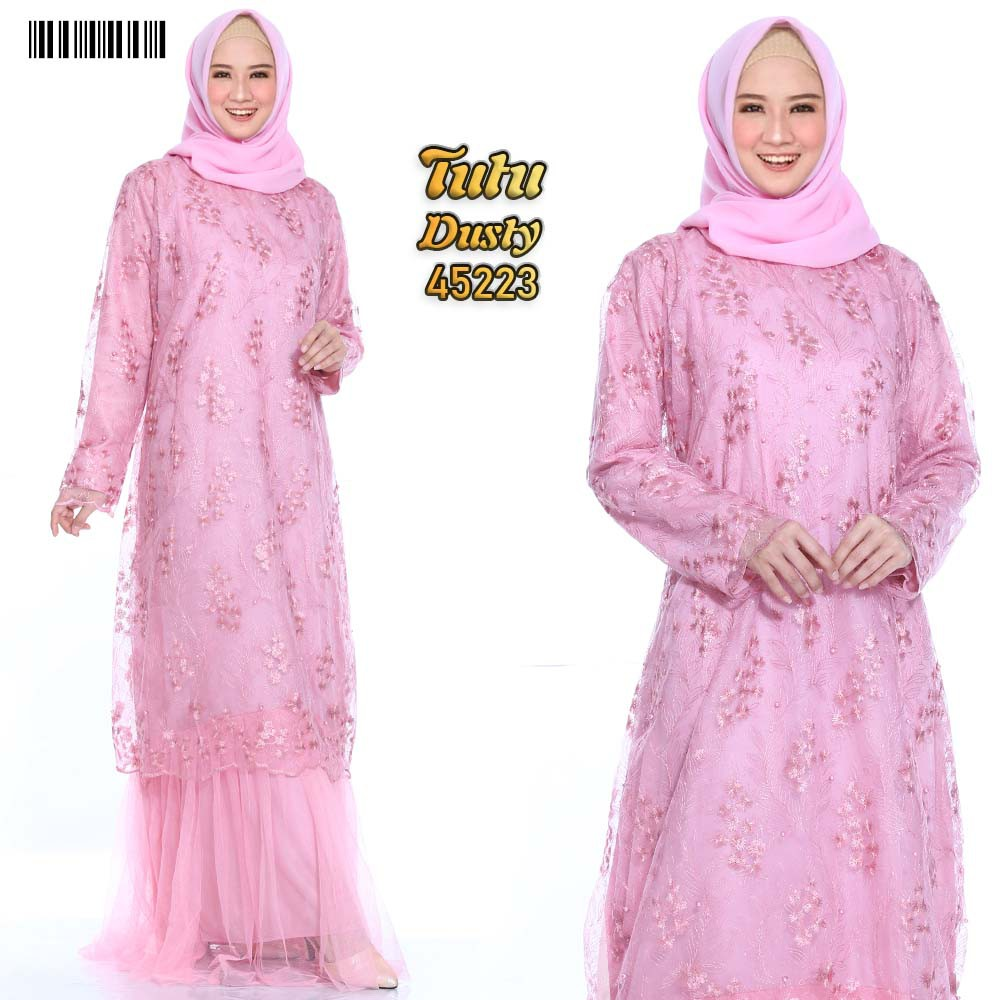 Gamis dress party tutu xxl dusty