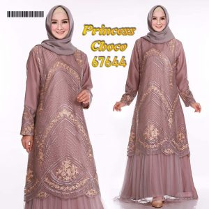 Gamis Pesta Tile Princess Choco