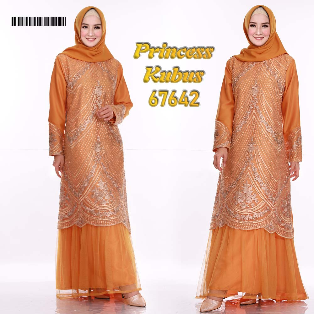 Gamis pesta tile princess kubus