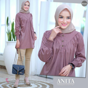 Anita top brown