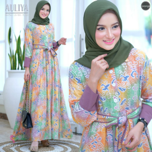 Auliya dress orange