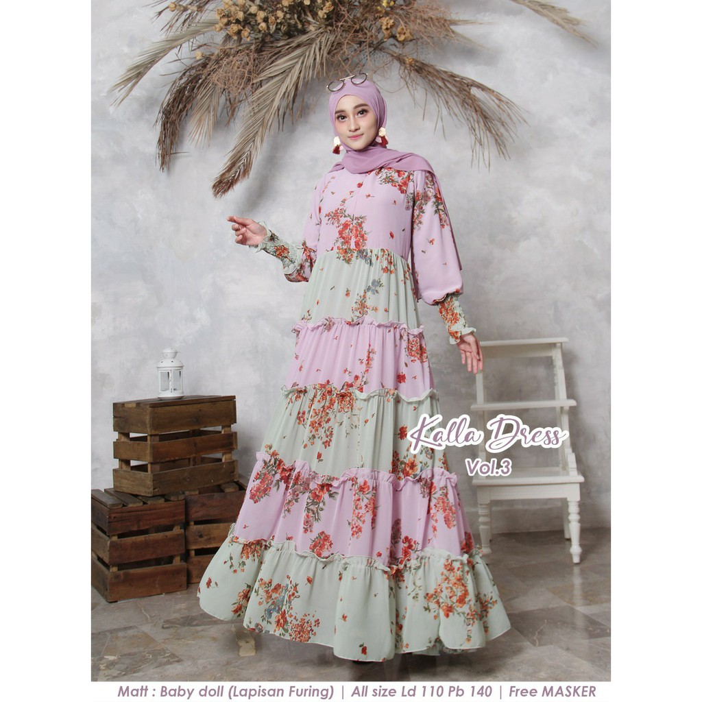 Dress new kalla vol 3 lavender