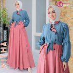 Gamis Polos Model Payung Mitha